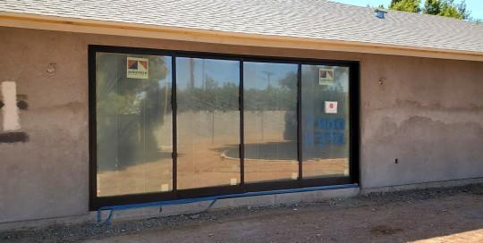 Arizona Window and Door in Scottsdale and Tucson showing construction of a patio sliding door