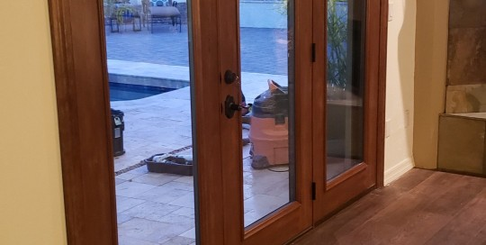 Arizona Window and Door in Scottsdale and Tucson showing wood french doors