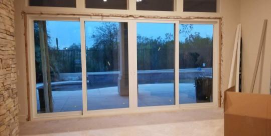 Arizona Window and Door in Scottsdale and Tucson showing white back slider door