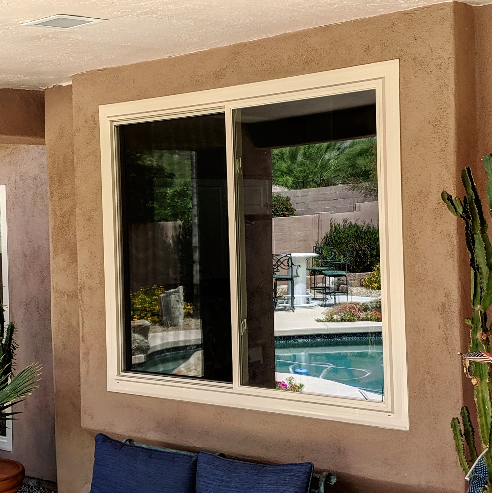 Arizona Window and Door in Scottsdale and Tucson showing home sliding window