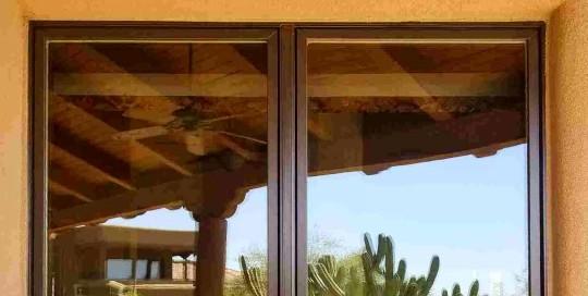 Arizona Window and Door in Scottsdale and Tucson showing brown panel windows