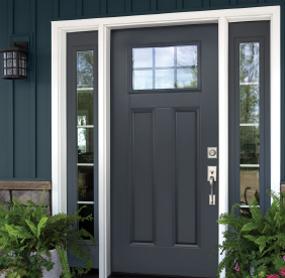 Arizona Window and Door in Scottsdale and Tucson showing black front door with windows