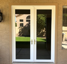 Arizona Window and Door in Scottsdale and Tucson showing white french doors
