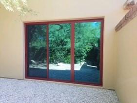 Sliding Door, Three Panel, Red