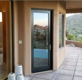 Arizona Window and Door in Scottsdale and Tucson showing glass back door