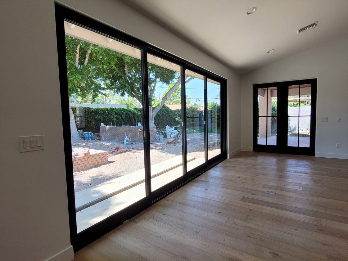 Multislide Door Four Panel, French Doors, Black